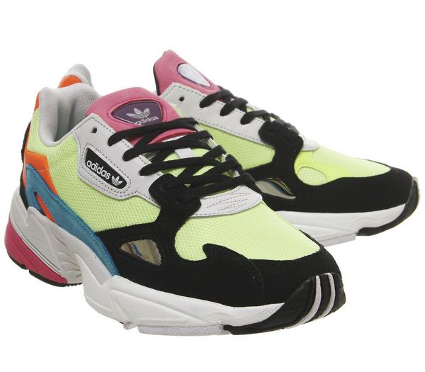 adidas Falcon Trainers Hi Res Yellow Core Black - Hers trainers 25RUXKY