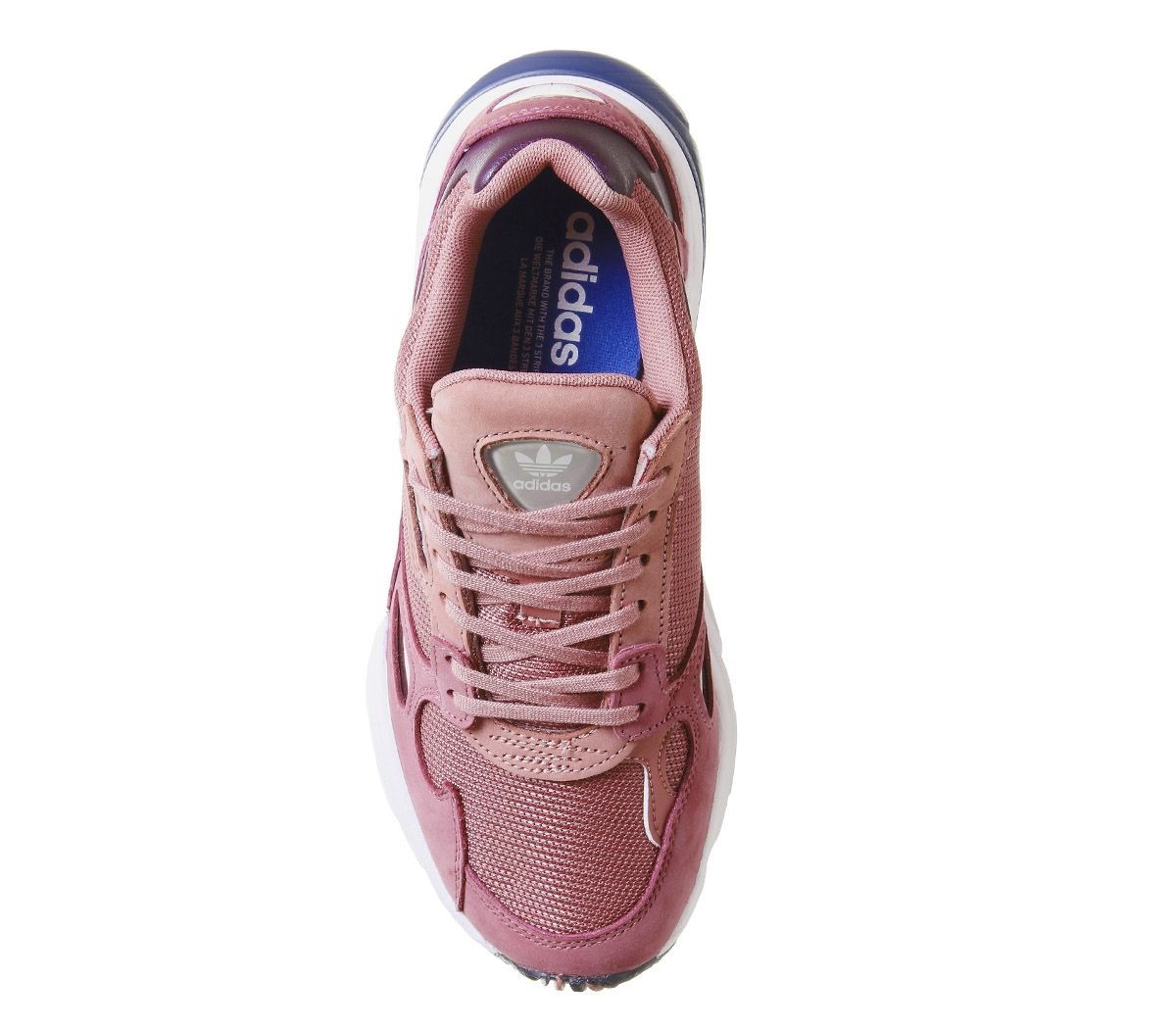 timeless design 7b463 1a6bc adidas Falcon Trainers Pink Dark Blue - Hers trainers