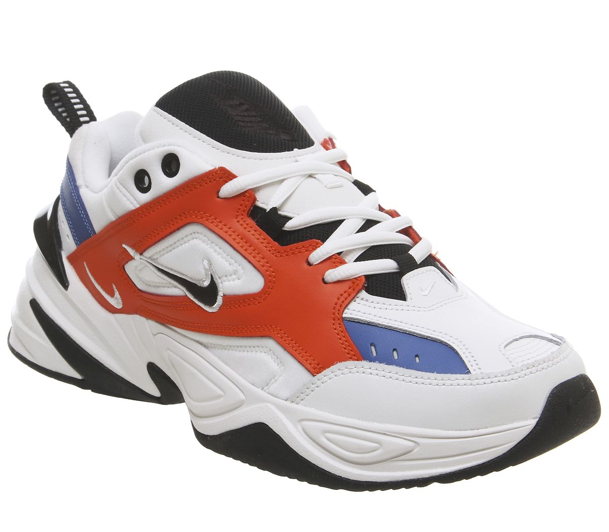 sports shoes 67c4b 88fcf Nike M2k Tekno Trainers Summit White Black Team Orange Mountain ...