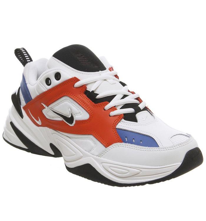 premium selection 0cbd6 97b96 M2k Tekno Trainers  Nike, M2k Tekno Trainers, Summit White Black Team  Orange Mountain ...
