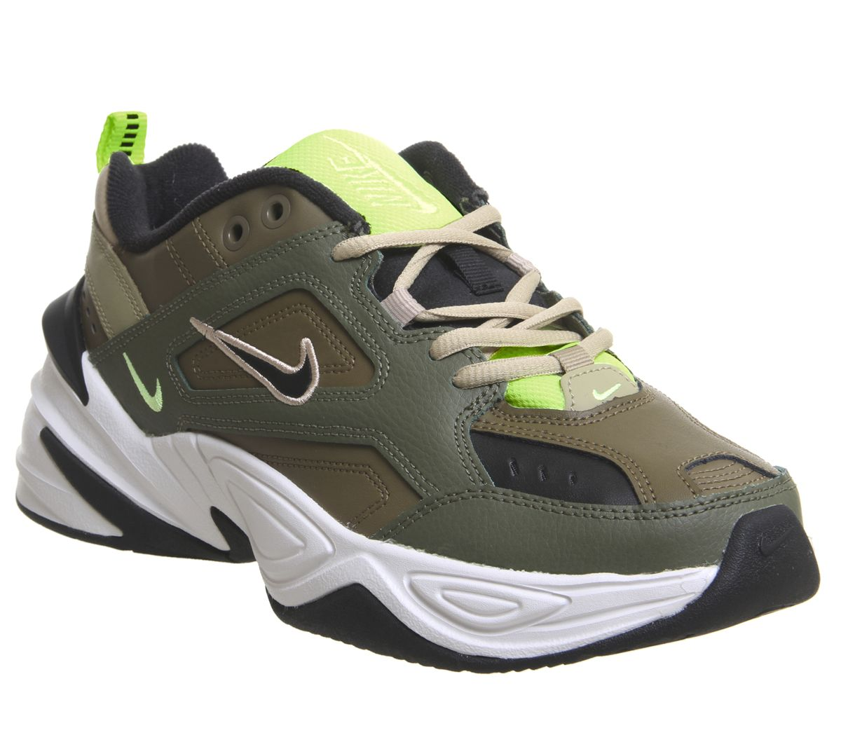 wholesale dealer 5e67f c64b2 Nike M2k Tekno Trainers Medium Olive Black Beige Phantom Desert ...