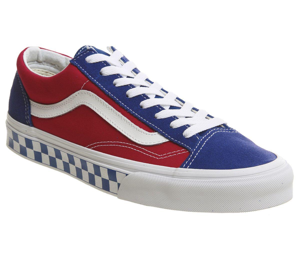 9f53f900f0 Vans Style 36 Bmx Checkerboard Blue Red - Sneaker herren