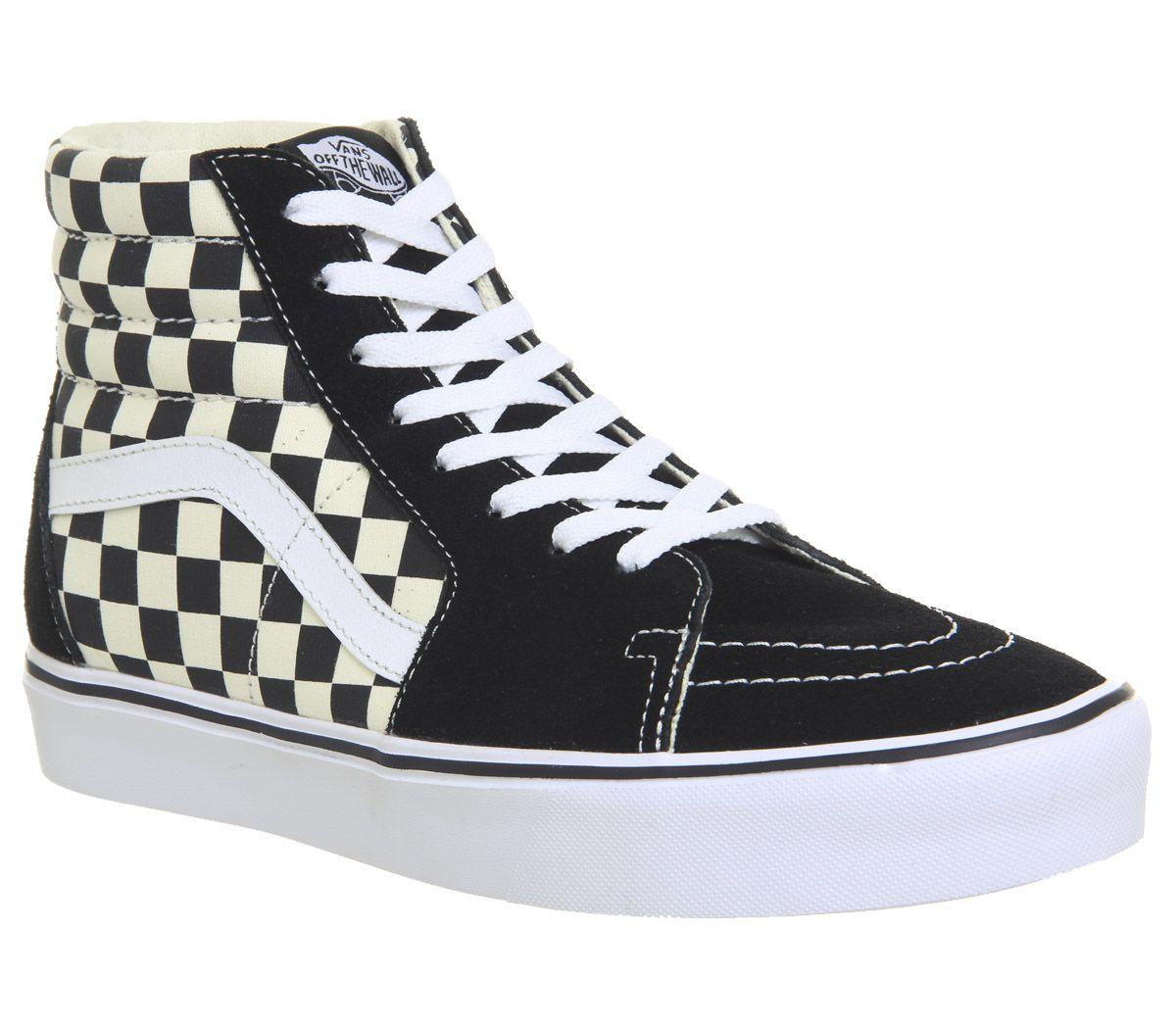 45d6f0d98219ee Vans Sk8 Hi Lite Black White Checkerboard - His trainers