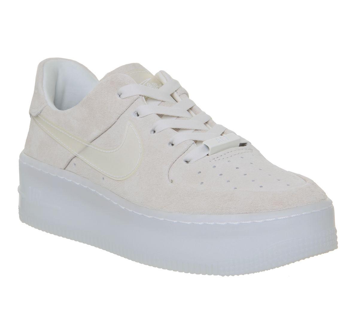 27e7520e4b Nike Air Force 1 Sage Trainers Phantom White Irridescent - Hers trainers