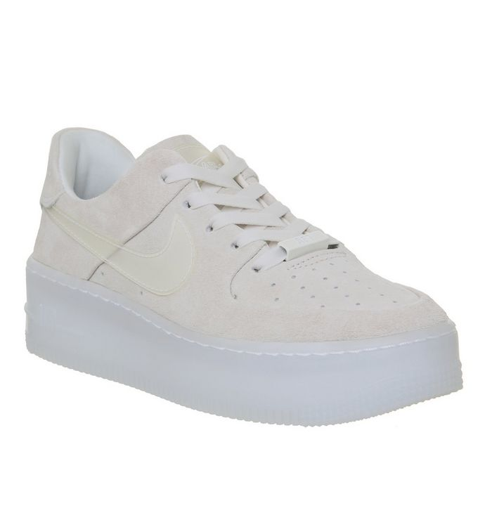 new arrival 8d530 112f3 Nike Air Force 1 Sage Trainers Particle Beige Phantom - Hers ...