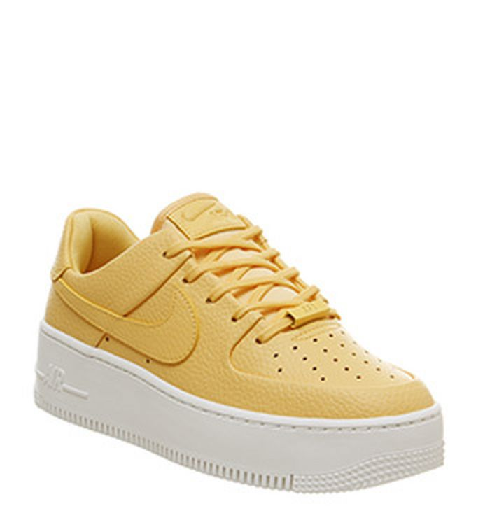 98dc03f8c 12-04-2019. Nike Air Force 1 Sage Trainers Topaz Gold White. £84.99.  Quickbuy