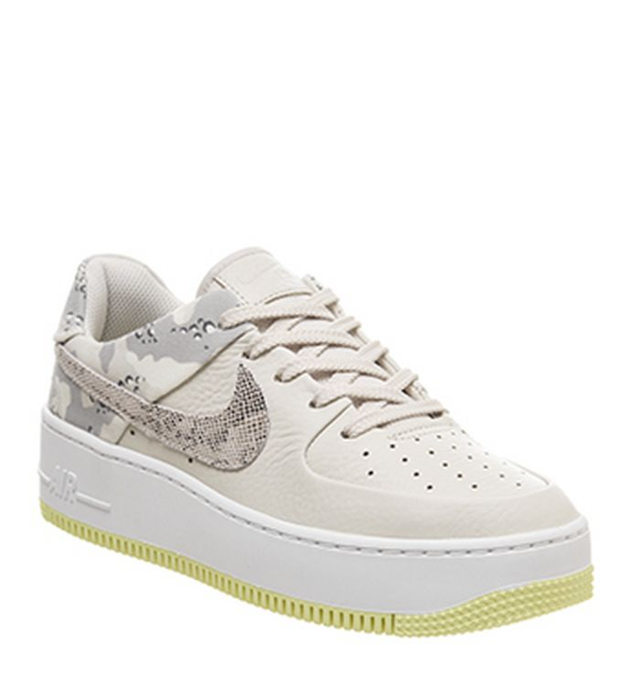 timeless design 470c5 669fe Launching 23-05-2019 · Nike Air Force 1 Sage Trainers Light Orewood Barely  Volt Snake