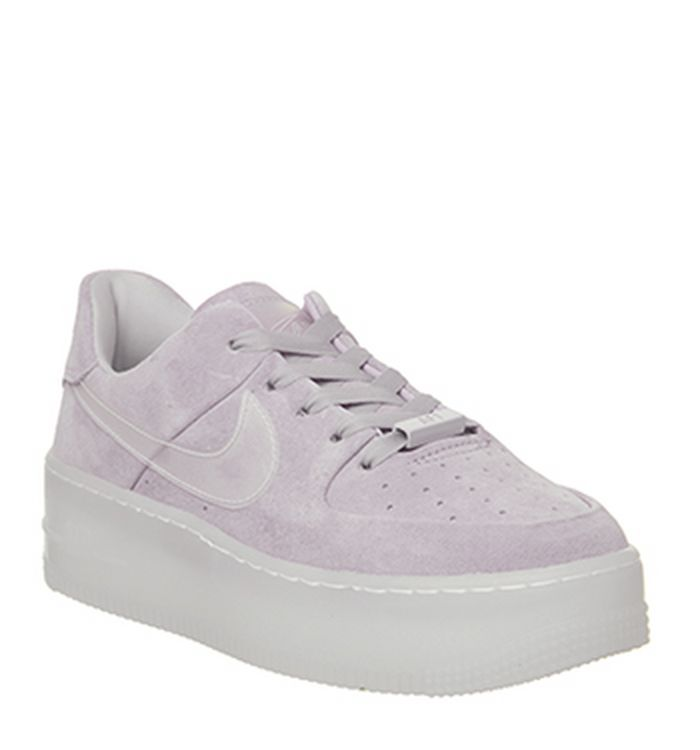 huge discount 3ab02 7d414 Launching 06-12-2018 · Nike Air Force 1 Sage Trainers Violet Mist  Irridescent