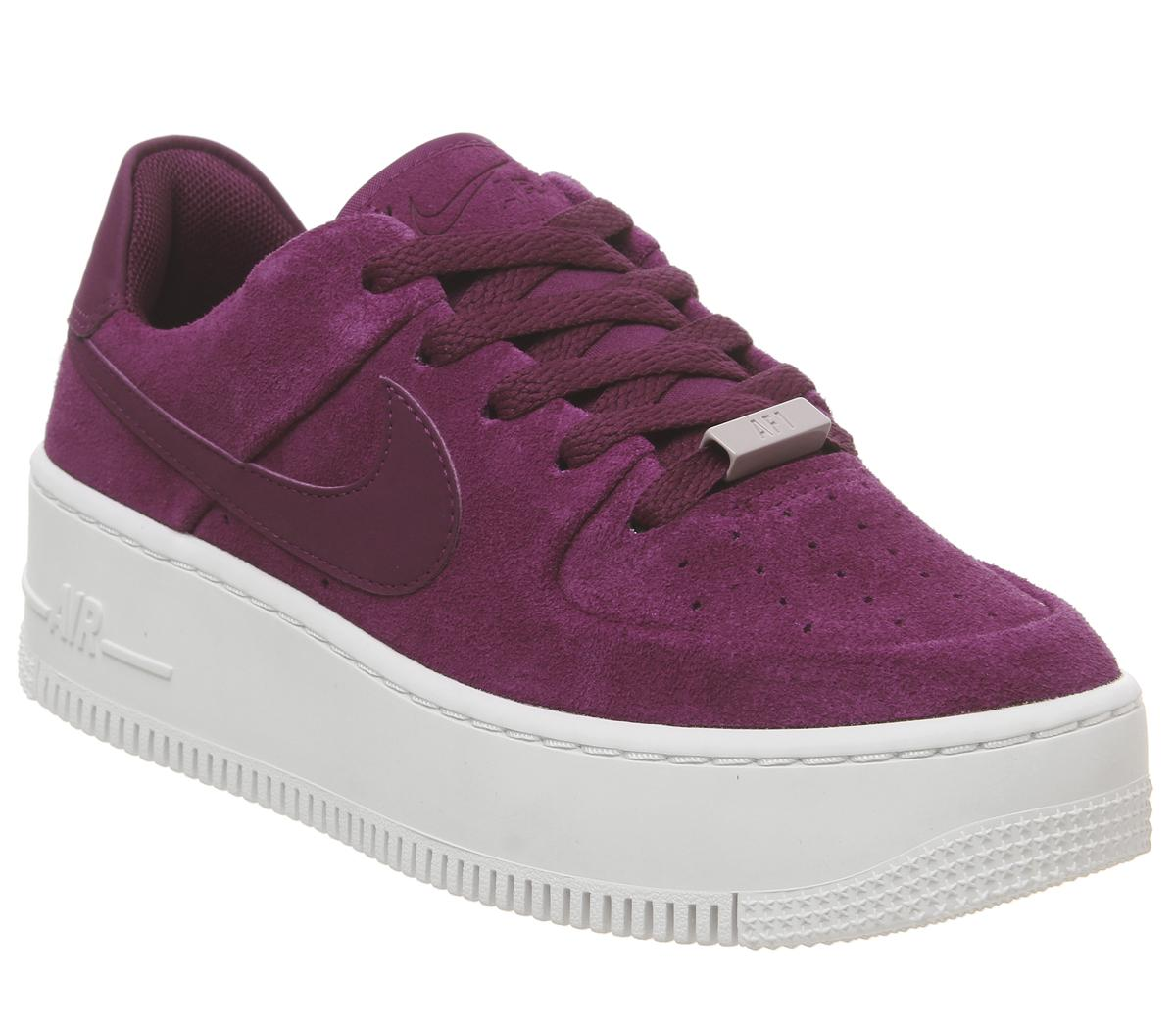 6afad2b3fd6 Nike Air Force 1 Sage Trainers True Berry Plum Chalk - Hers trainers