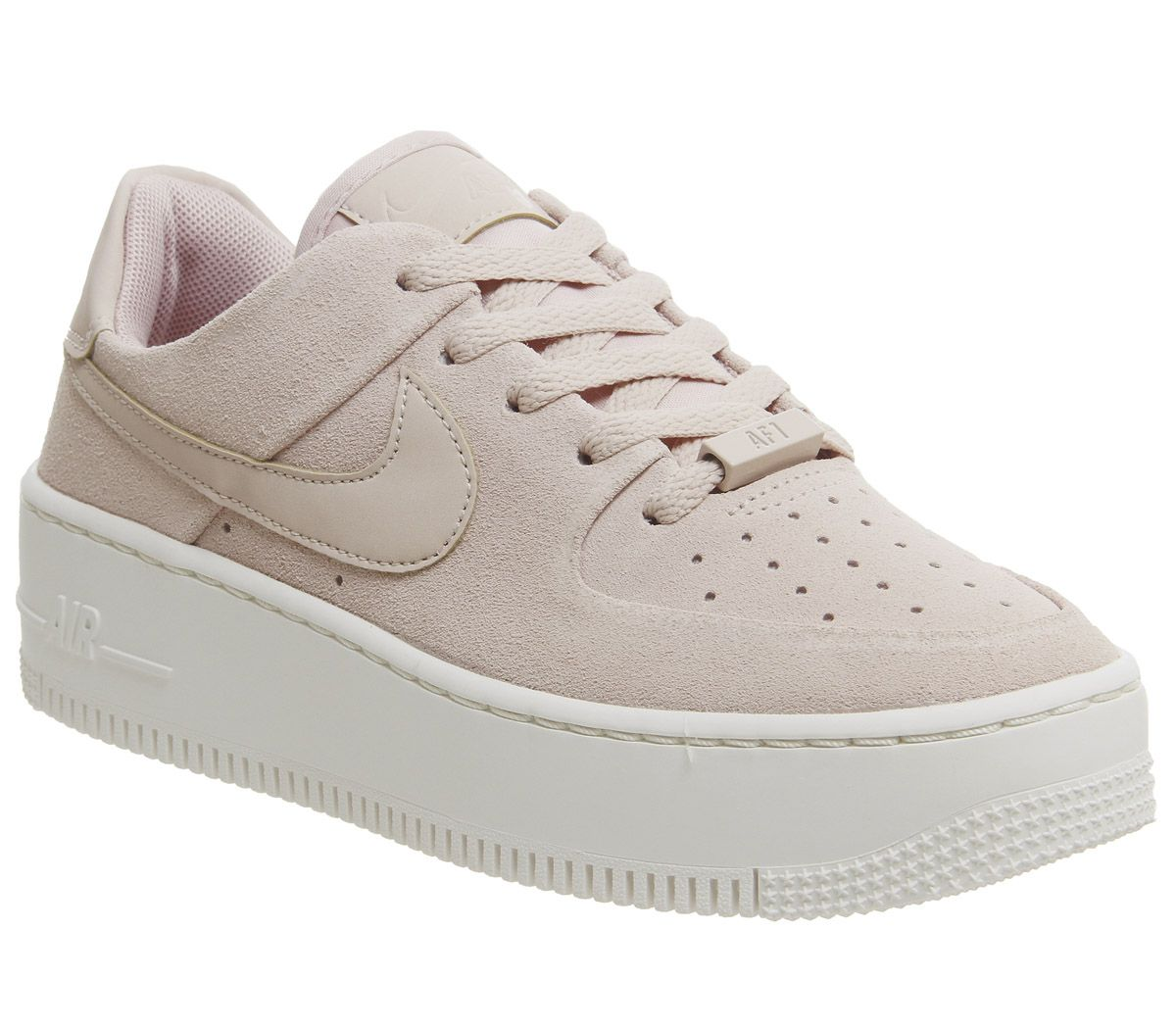 the best attitude ba8e0 39dc2 Nike Air Force 1 Sage Trainers Particle Beige Phantom - Hers trainers