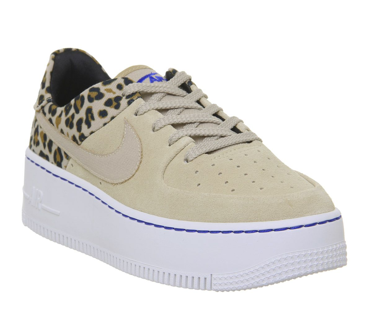 pretty nice 744ee a5bbf Nike Air Force 1 Sage Trainers Desert Ore Wheat Leopard - Hers trainers