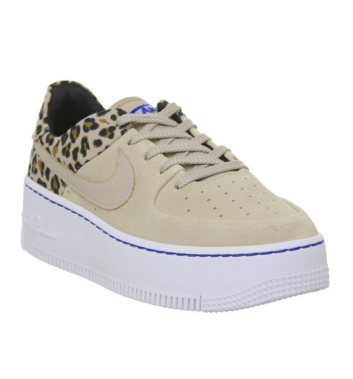 quality design 34ac0 76ad6 ... Nike, Air Force 1 Sage Trainers, Desert Ore Wheat Leopard ...