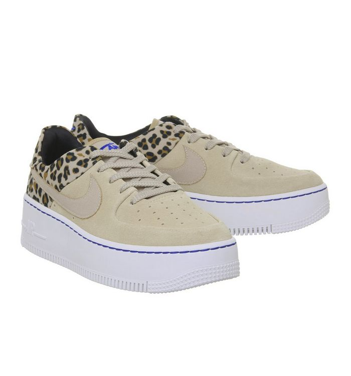 sneakers for cheap 7bfd8 9f44d Air Force 1 Sage Trainers  Nike, Air Force 1 Sage Trainers, Desert Ore  Wheat Leopard ...