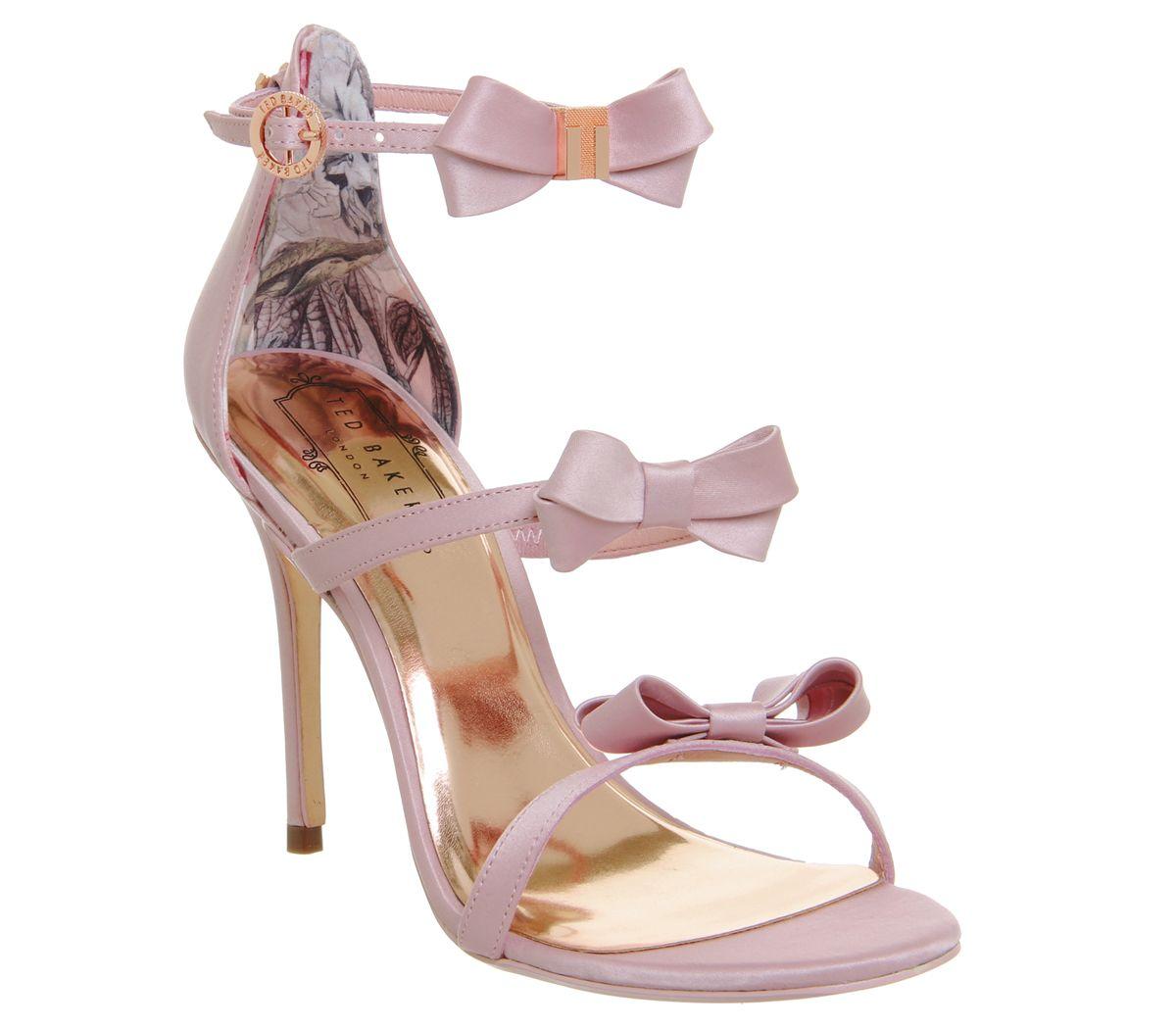 783e8963da96 Ted Baker Nuscala Bow Heels Light Pink Satin - High Heels