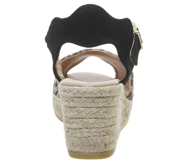 Gaimo for OFFICE Round Wedge Espadrilles Leopard - Sandals 1zCtPmH