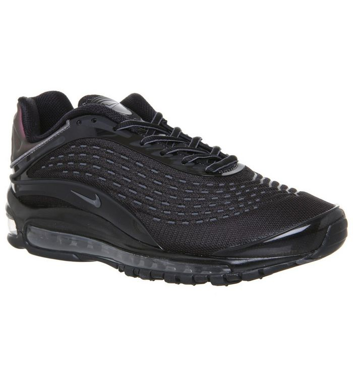 41169ad245 Air Max Deluxe Trainers; Nike, Air Max Deluxe Trainers, Black Mono ...