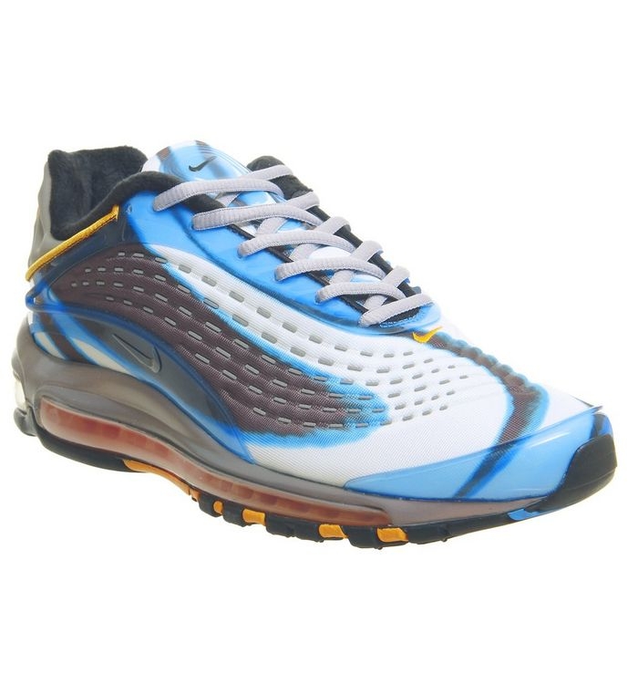 reputable site fe241 bece7 Air Max Deluxe Trainers  Nike, Air Max Deluxe Trainers, Blue Grey Orange ...