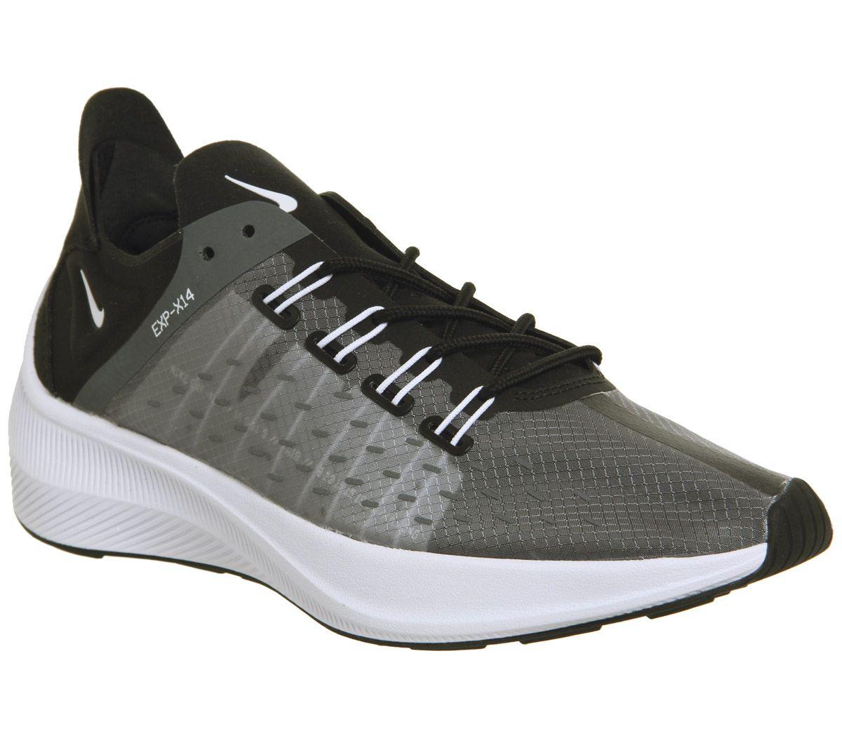 cf58b305c Nike Nike Exp-x14 Racer Trainers Black Grey White Wolf Grey F - Hers ...