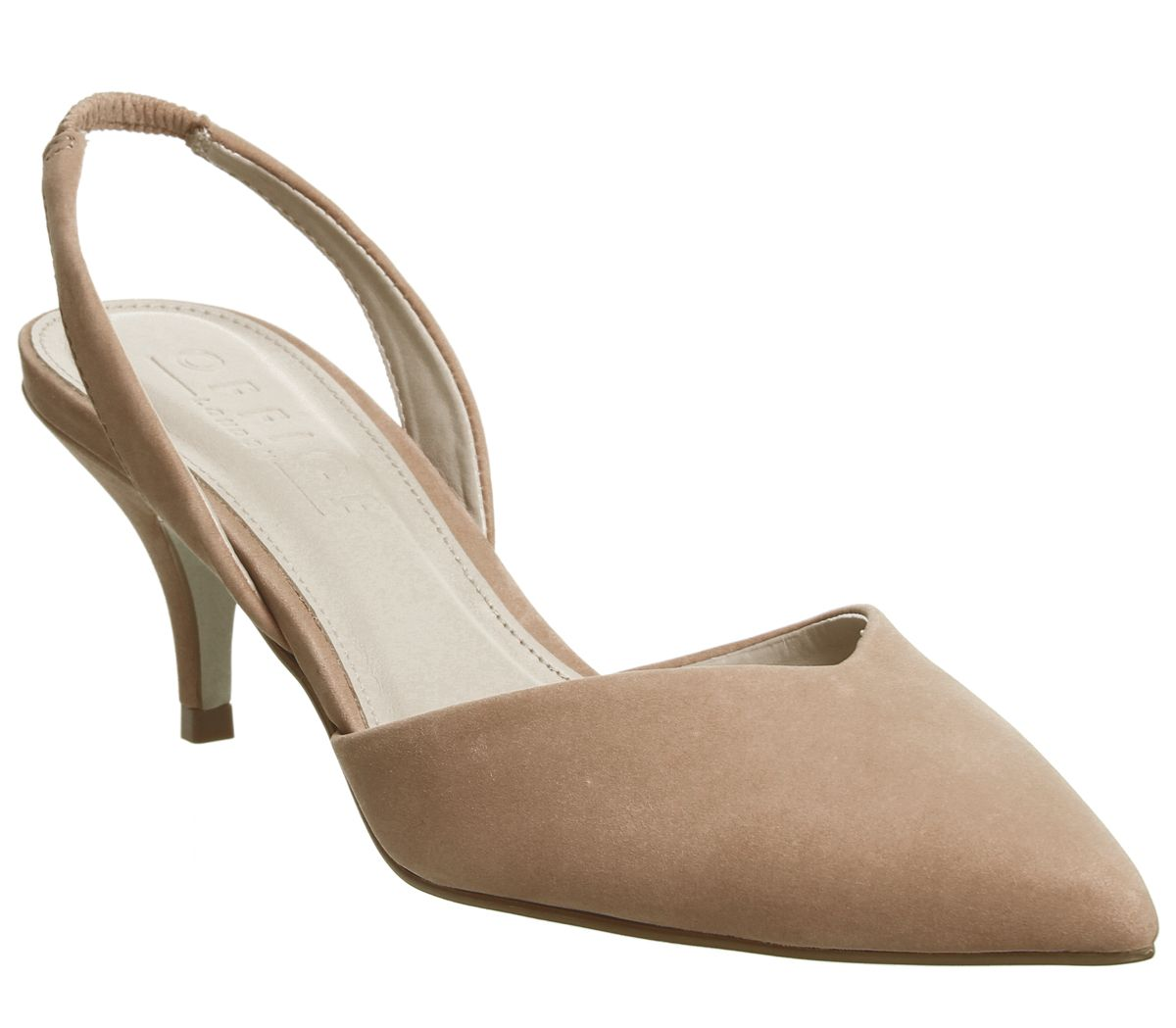 c472d76c16 Office Melon Two Part Sling Courts Nude Nubuck - Mid Heels