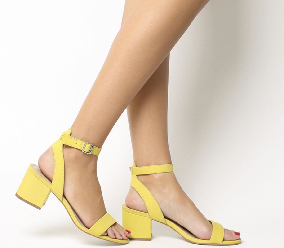 99ce3d979c8 Office Make Up Sandals Yellow Nubuck - Mid Heels