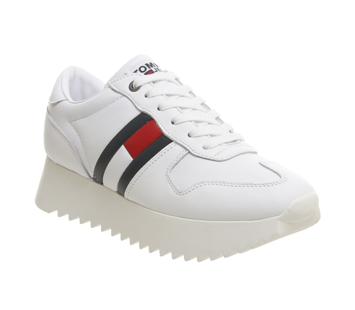 ac747432 Tommy Hilfiger High Cleated Sneaker White Red Blue - Hers trainers