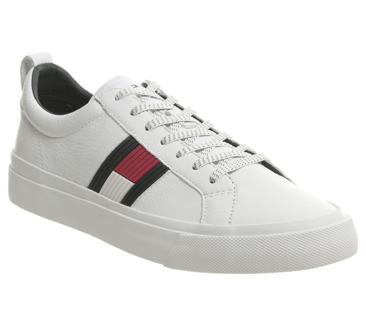 29e6727a5 Tommy Hilfiger Flag Detail Trainers White - Casual