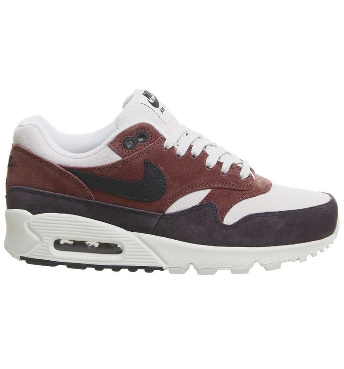 new product 202c9 ac5f7 ... Red Sepia Oil Grey F  Air Max 90 1 Trainers ...