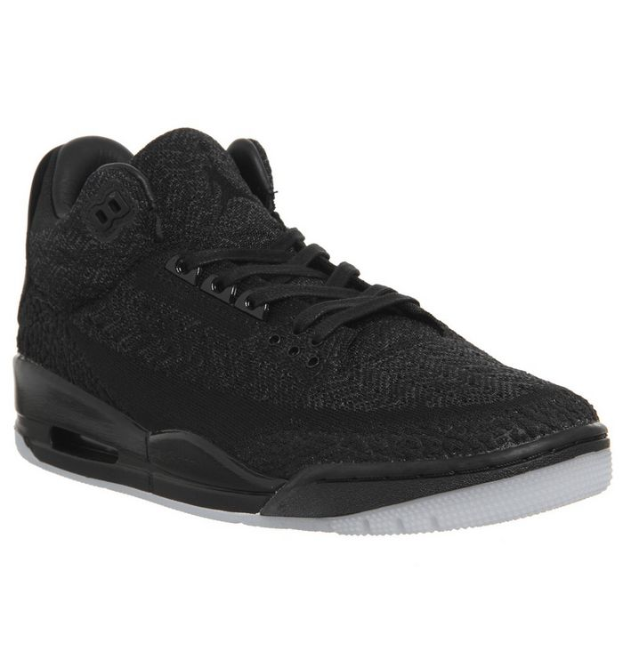 671219f3723c10 Jordan Air Jordan 3 Flyknit Trainers Black Glow In The Dark - His ...
