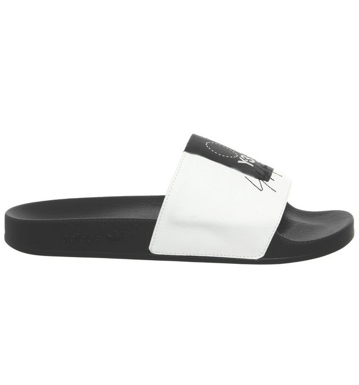 1686cb2e9ef08 adidas Y3 Y-3 Adilette Slides Core White Black - Hers trainers