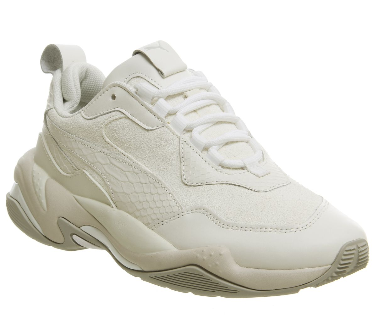 sale retailer bc381 c2245 Puma Thunder Desert Trainers Bright White Star Grey Violet - His ...