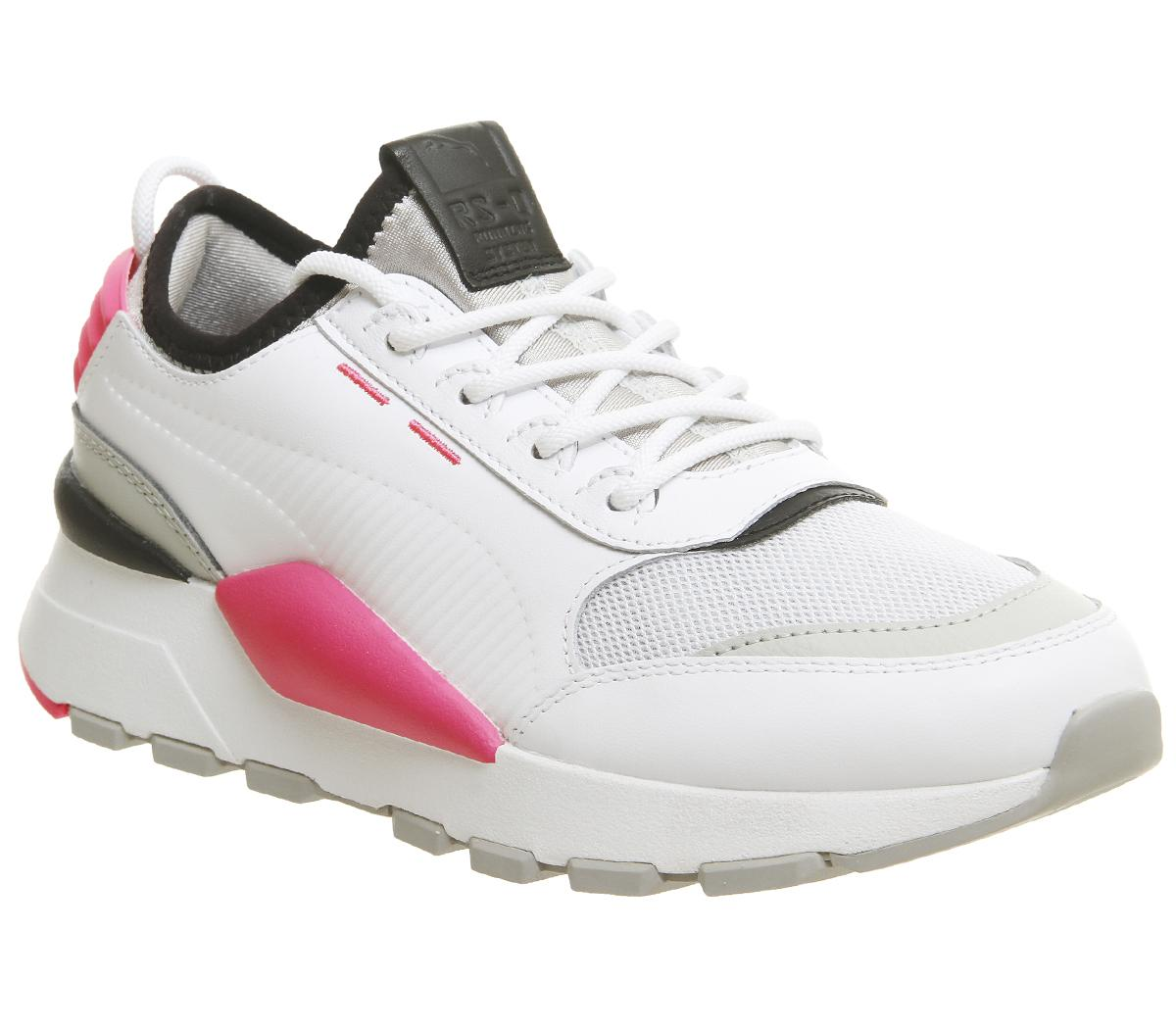 Puma Rs-0 Sound Trainers Puma White Grey Knockout Pink - Sneaker damen