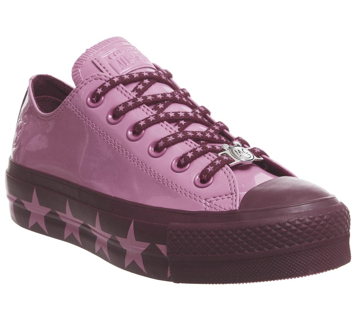 b355b216269d Converse Ctas Lift Ox Trainers Pink Dark Burgundy Pink X Mc - Hers ...
