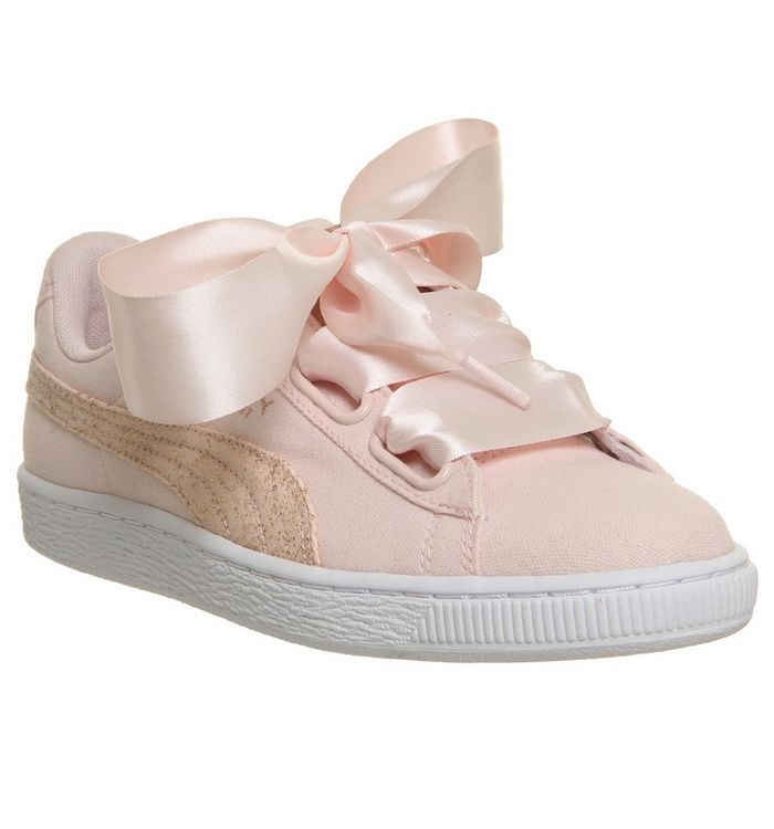 promo code 6692a 9ee94 Basket Heart Canvas Trainers