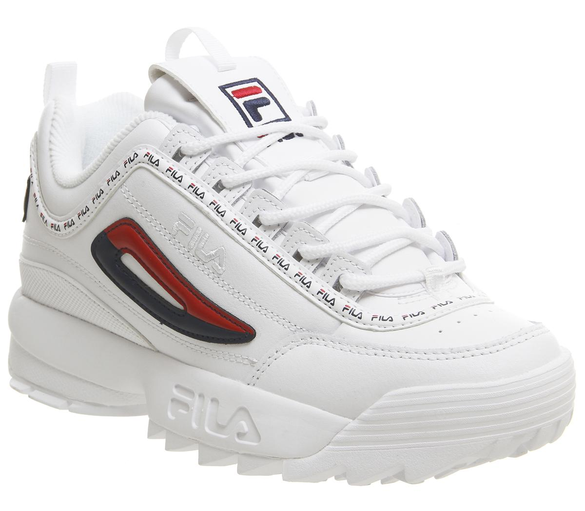 Fila Disruptor II Trainers White Repeat - Hers trainers