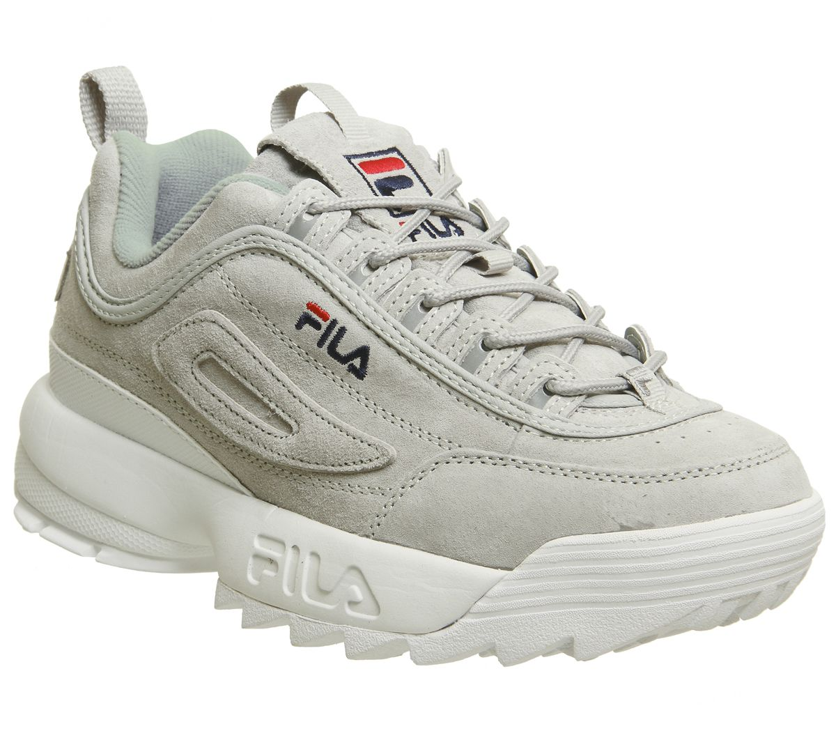 59bc10a93679 Fila Disruptor II Trainers Grey Suede - Hers trainers