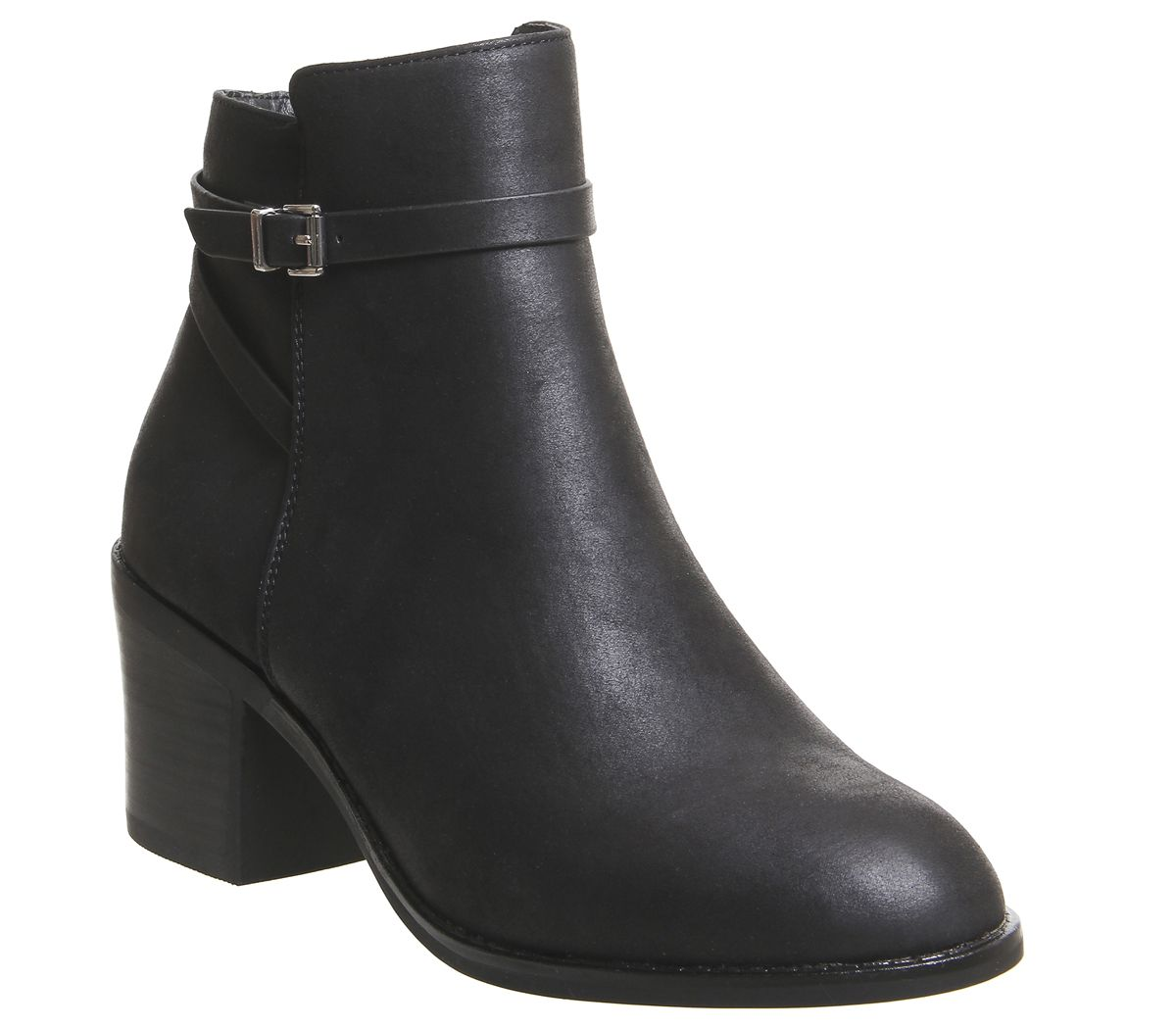 1d87df58cb040 Office Attract Ankle Strap Boots Black - Ankle Boots