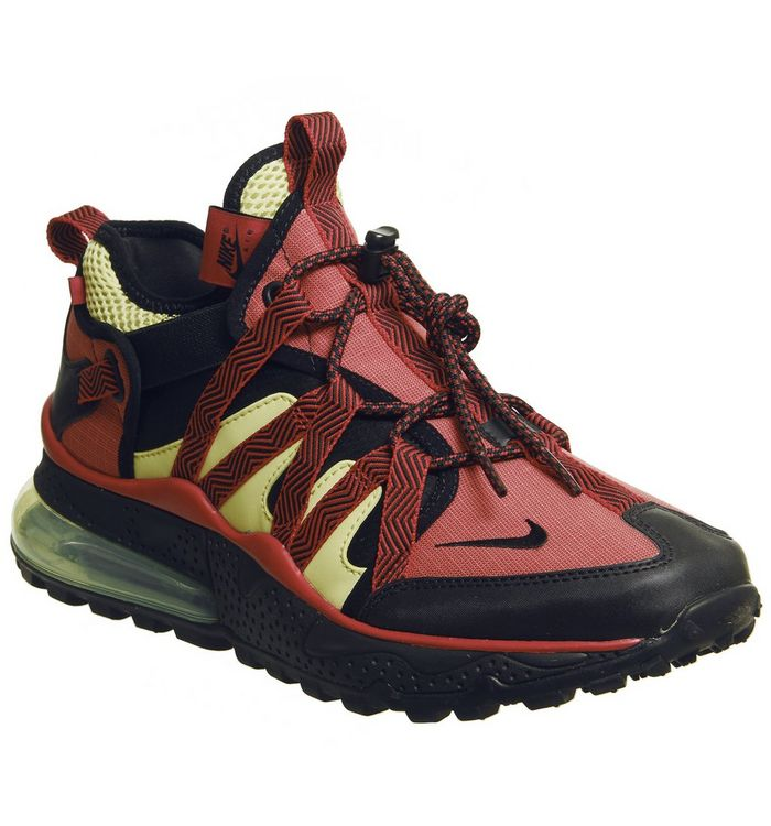 7a93e3841e ... Nike, Air Max 270 Bowfin Trainers, Black University Red Light Zitron ...