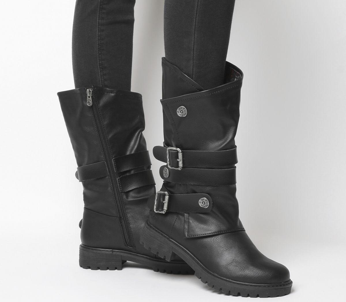 13732eeffa3 Blowfish Rider Tall Boots Black Alamo - Knee Boots