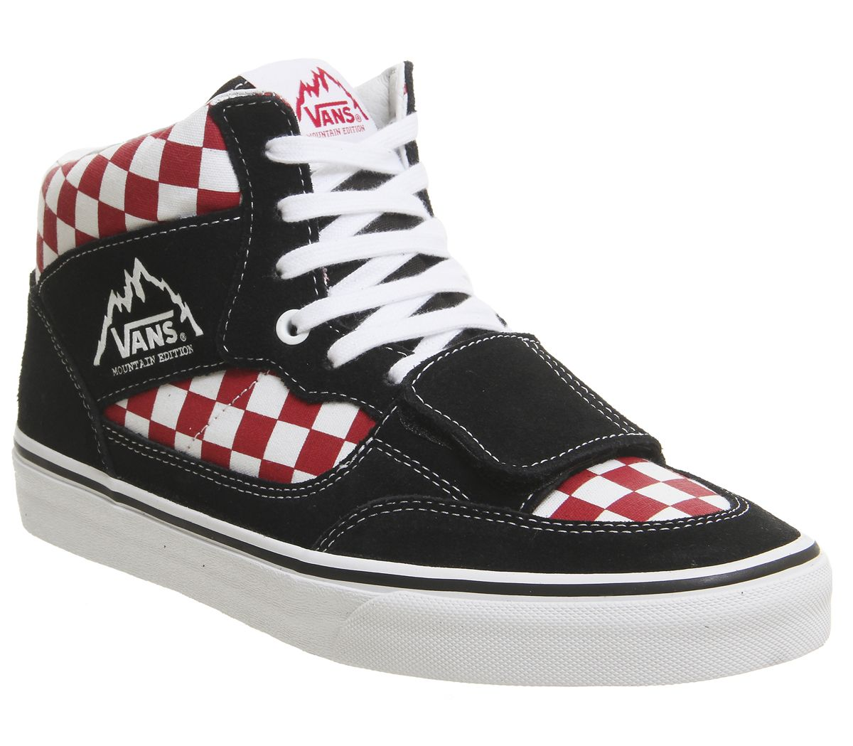 ff6b207573 Vans Mountain Edition Trainers Black Red Checkerboard - His trainers