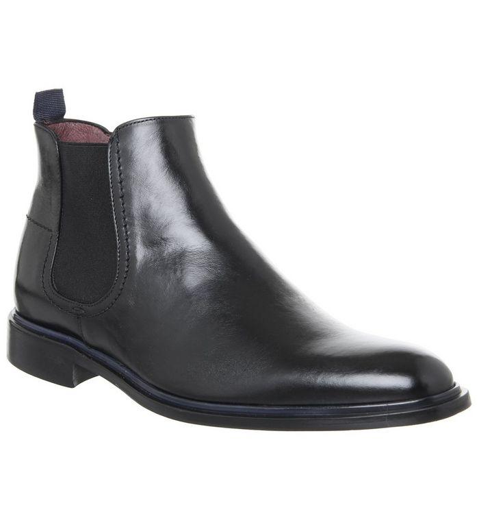 poste impegno chelsea black leather