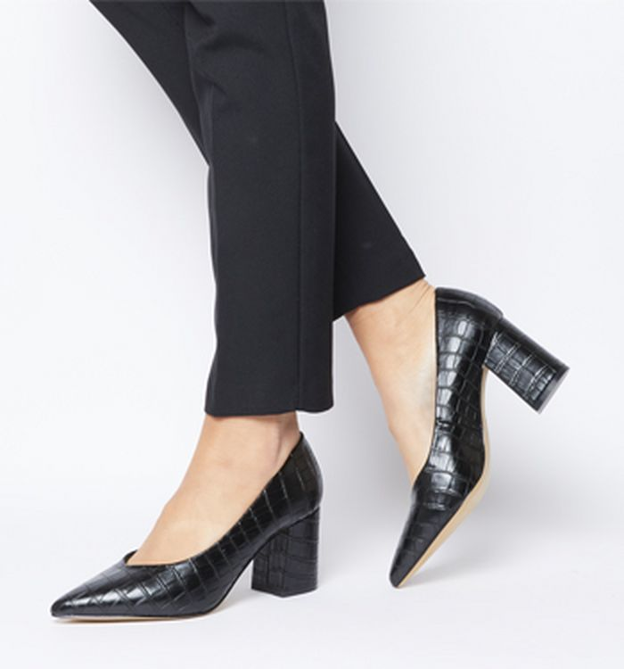 8e50e1c90bc8 12-02-2019 · Office Mama Point Court Heels Black Croc