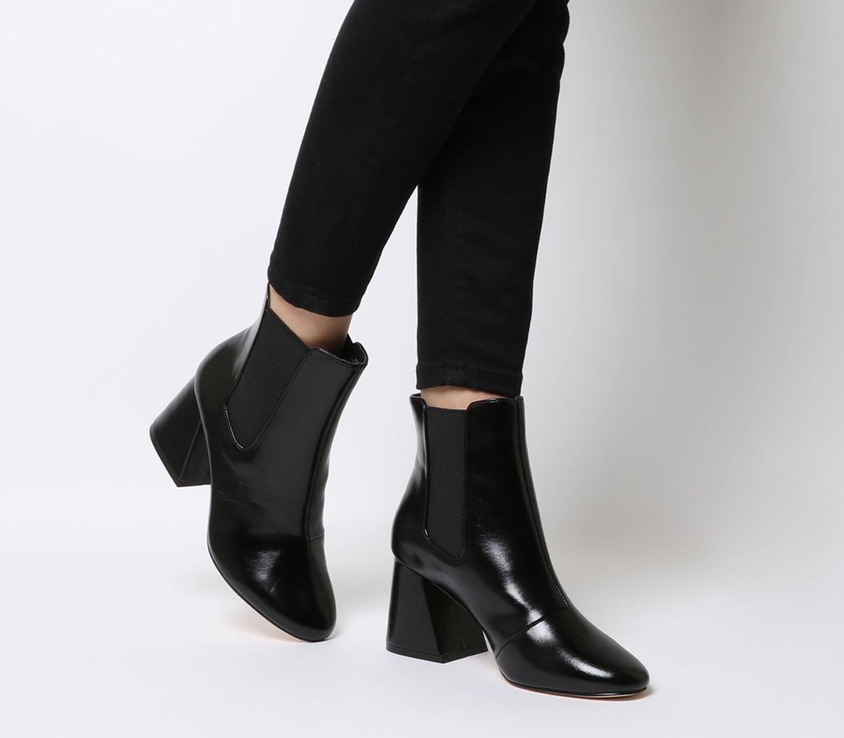24d72fe4634 Office Angular Block Heel Chelsea Boots Black - Womens Chelsea Boots