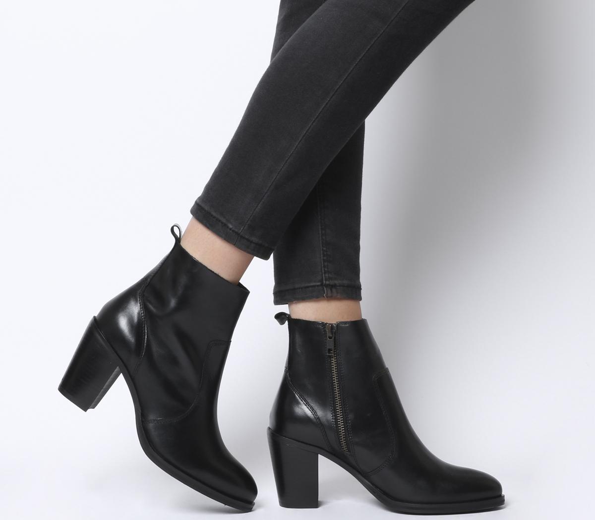 Aberdeen Unlined Block Heel Boots