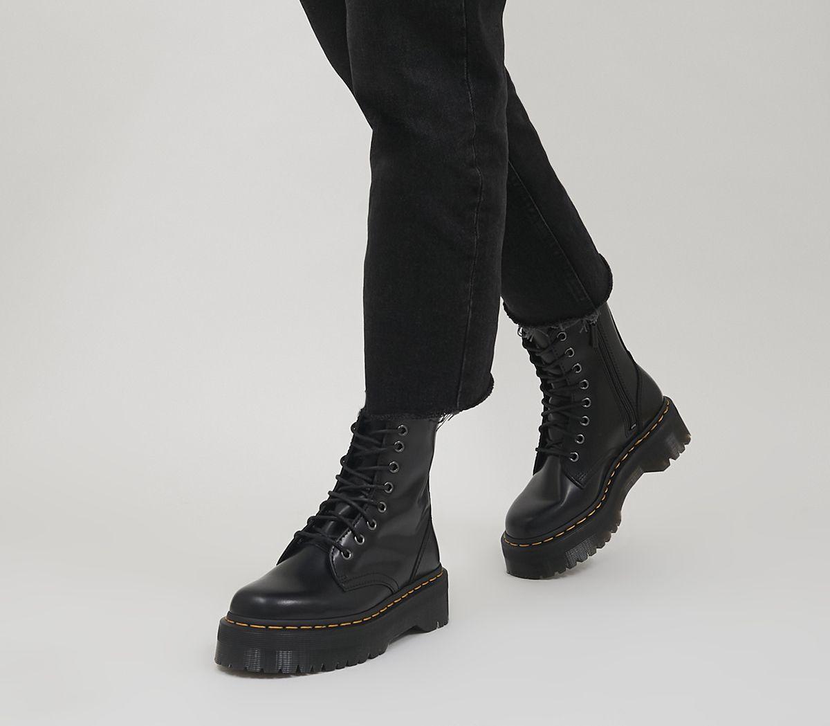 bf66ab0c84c525 Dr. Martens Jadon 8 Eye Boots Black - Ankle Boots