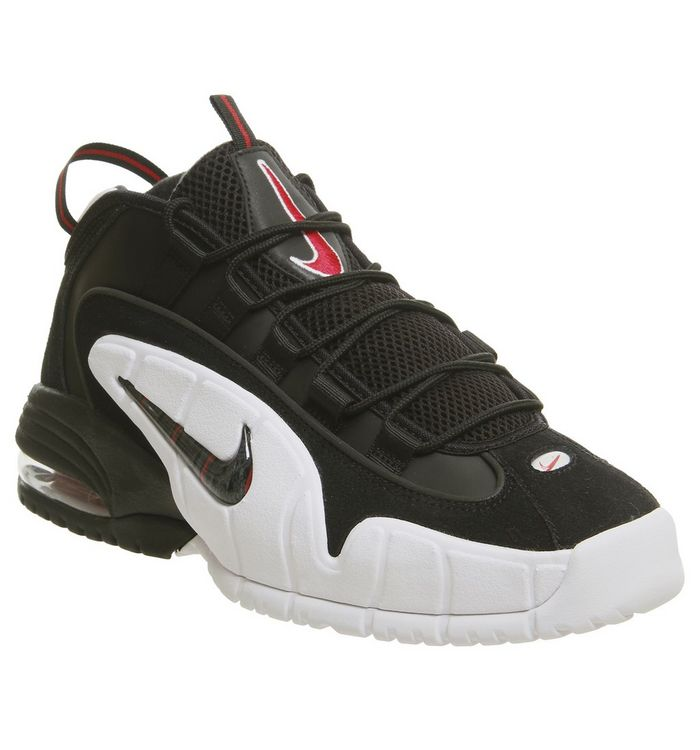 best website f4092 4bb27 Air Max Penny Trainers  Nike, Air Max Penny Trainers, Black White  University Red ...