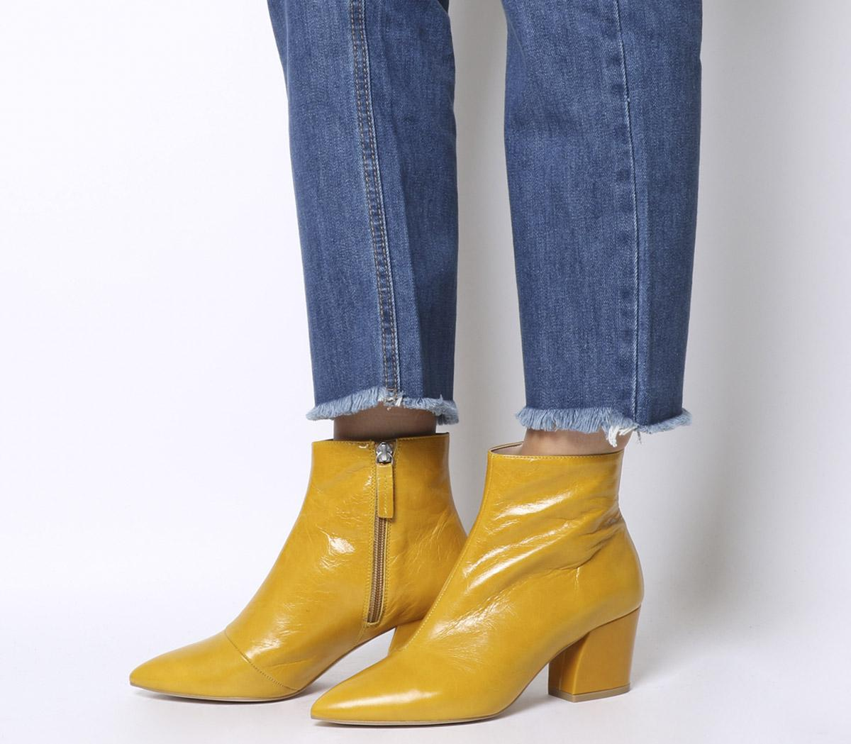 Aubergine Curved Heel Ankle Boots
