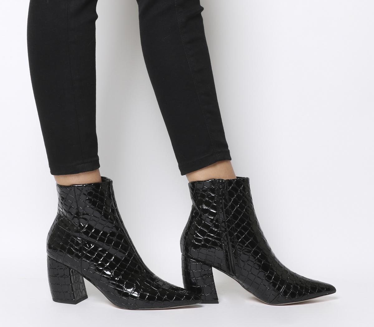 Aloud Point Block Heel Boots
