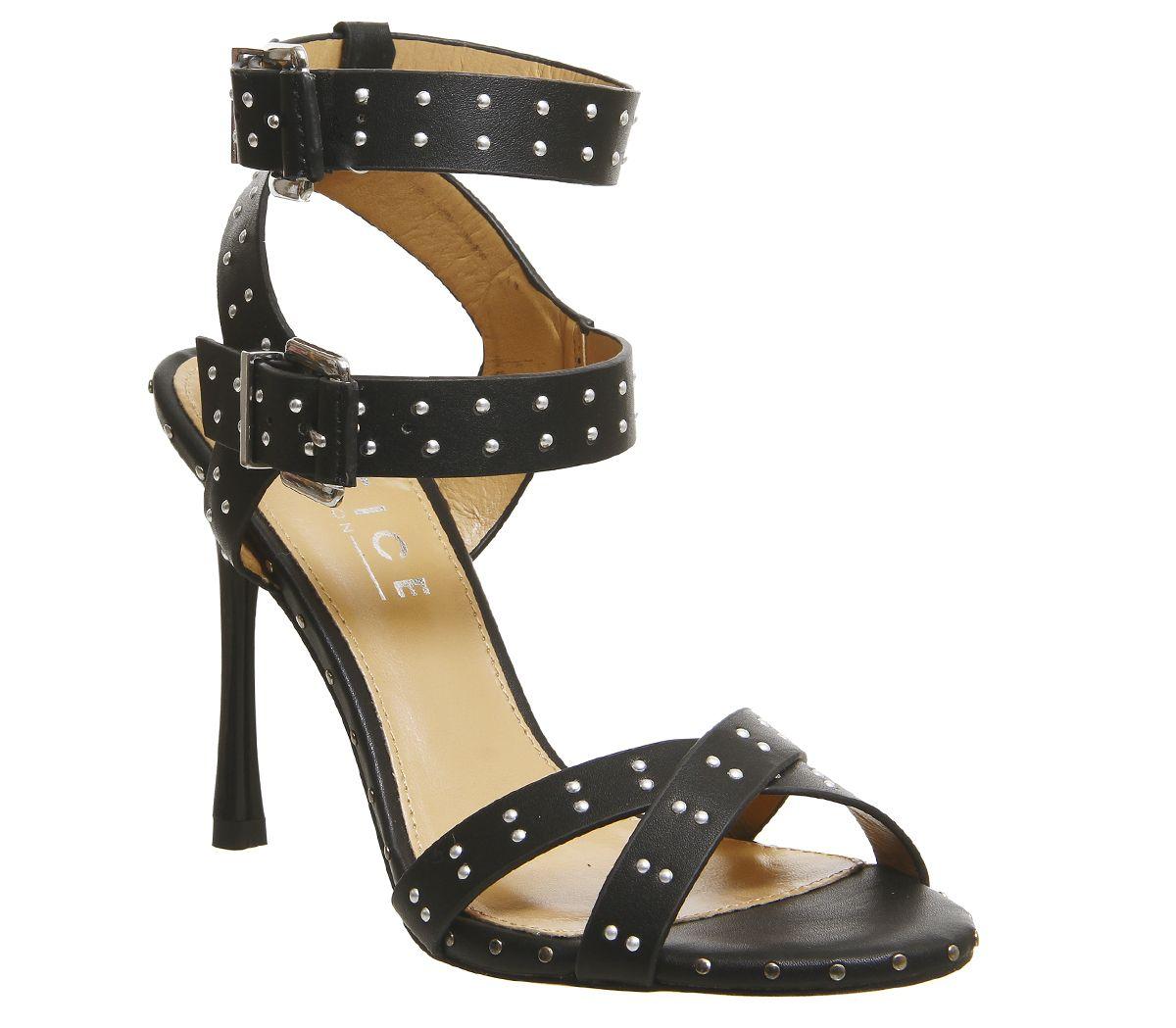 09dd9ac6563 Office Hardcore Studded Stiletto Heels Black - High Heels
