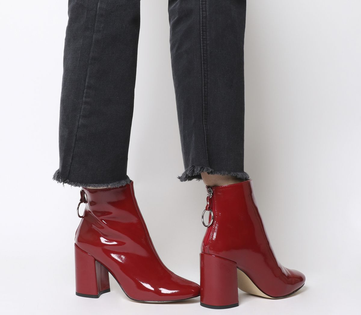 1cdc6f8e448 Argon Block Heel Back Zip Boots