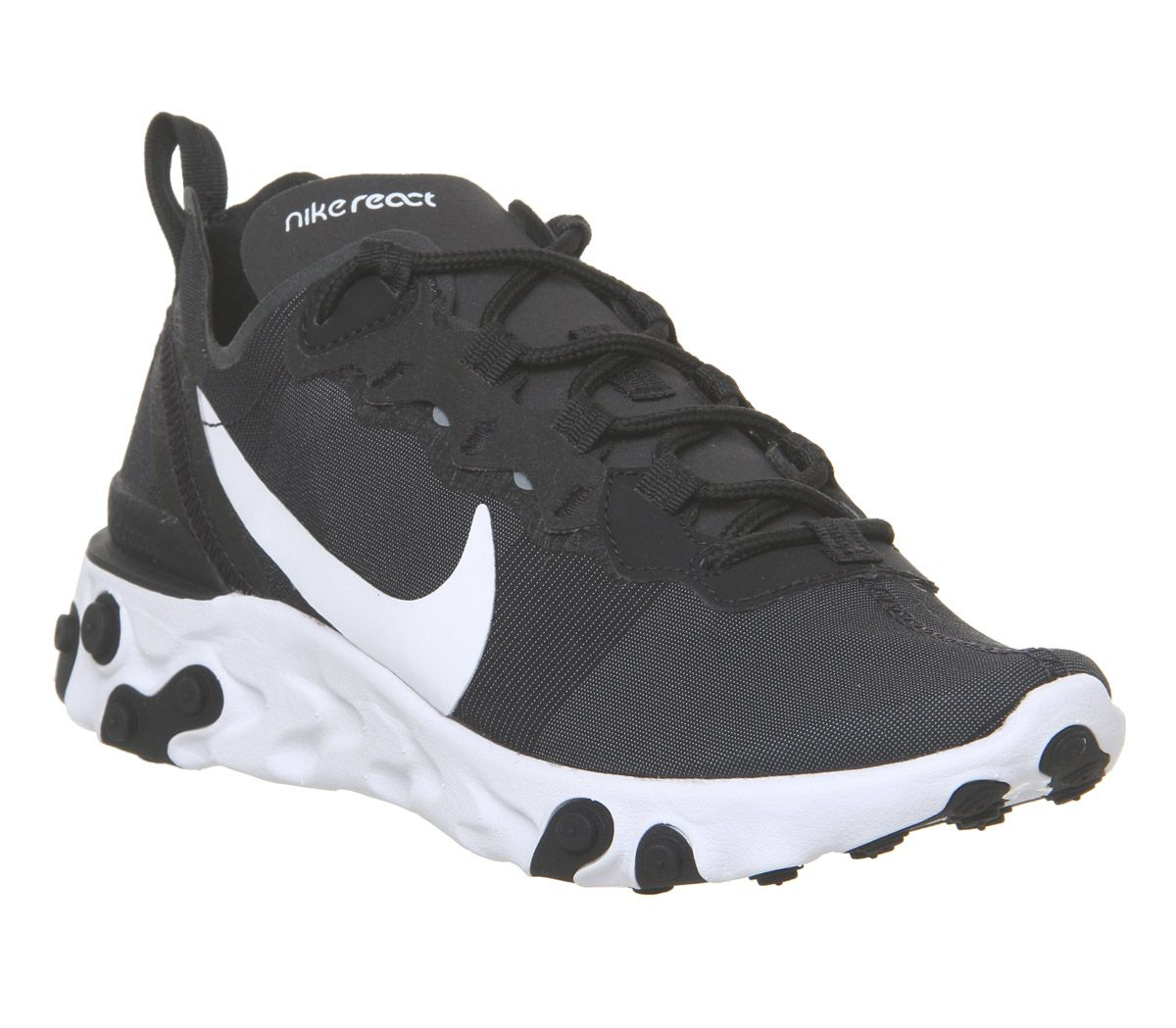 2f93e5c5a1e72 Nike React Element 55 Trainers Black White F - Hers trainers